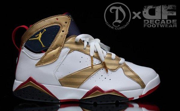 """online store 4d739 5e25e Air Jordan 7 """"Olympic Gold Medal"""" Custom - Style Engine"""
