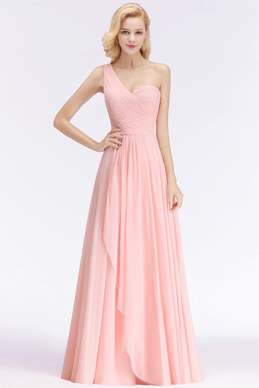 Elegante Rosa Brautjungfernkleider Günstig Chiffon ...