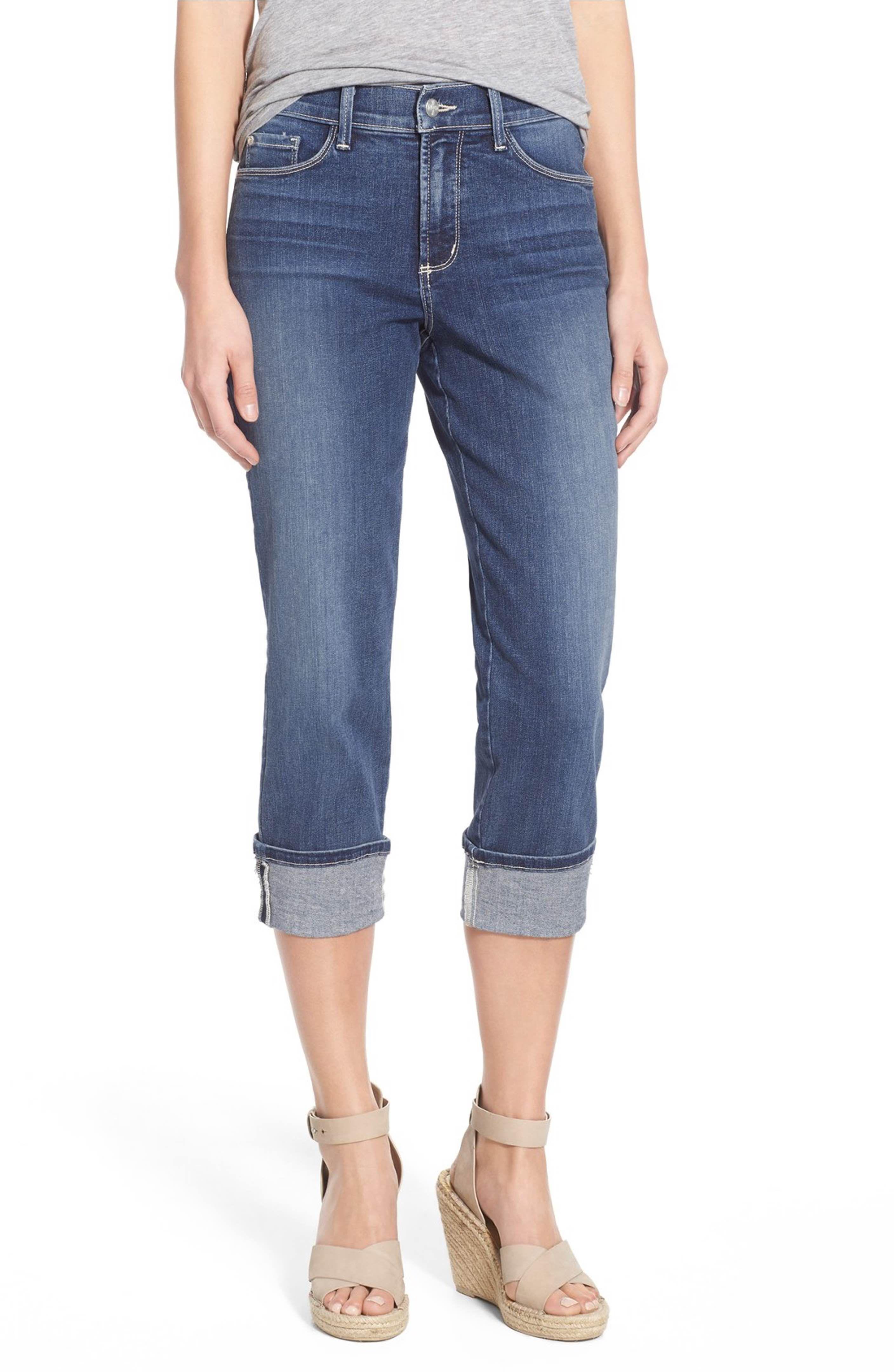 c3c7aa8fecc Main Image - NYDJ  Dayla  Colored Wide Cuff Capri Jeans (Regular   Petite)