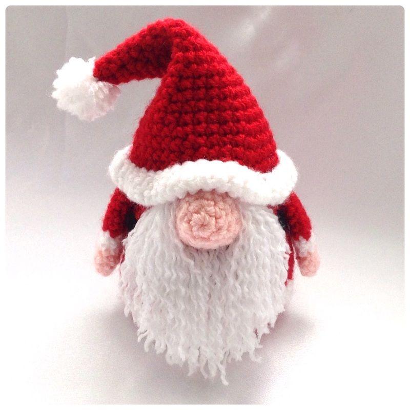 Santa Gonk Crochet Pattern - | Amigurumi, Weihnachten und Häkeln