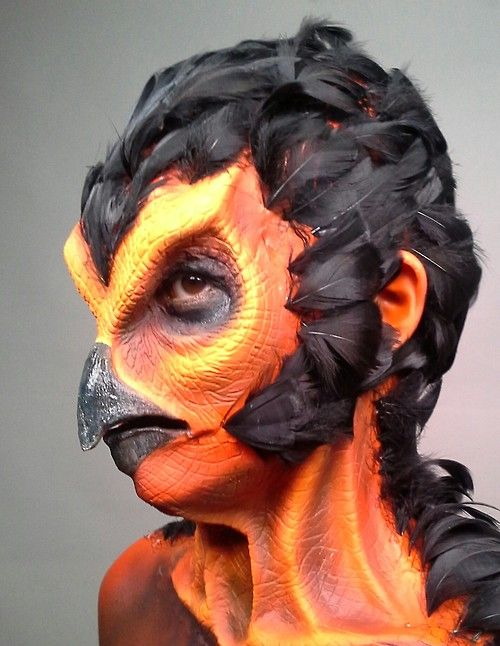 like the use of feathers | Special Effects Make-Up | Pinterest ...