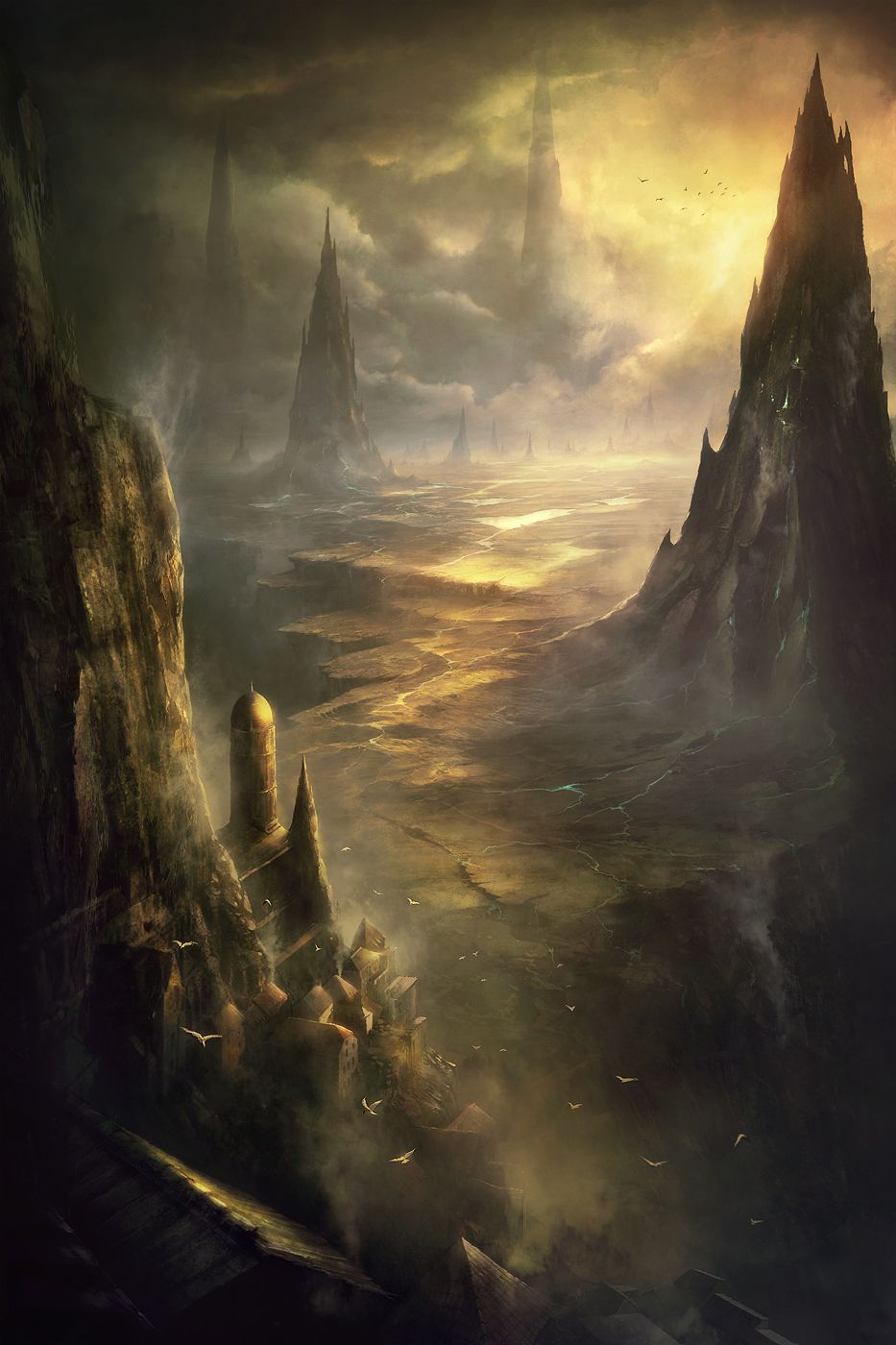 What does this scenery inspire in you?  Altlith spire by korbox.deviantart.com