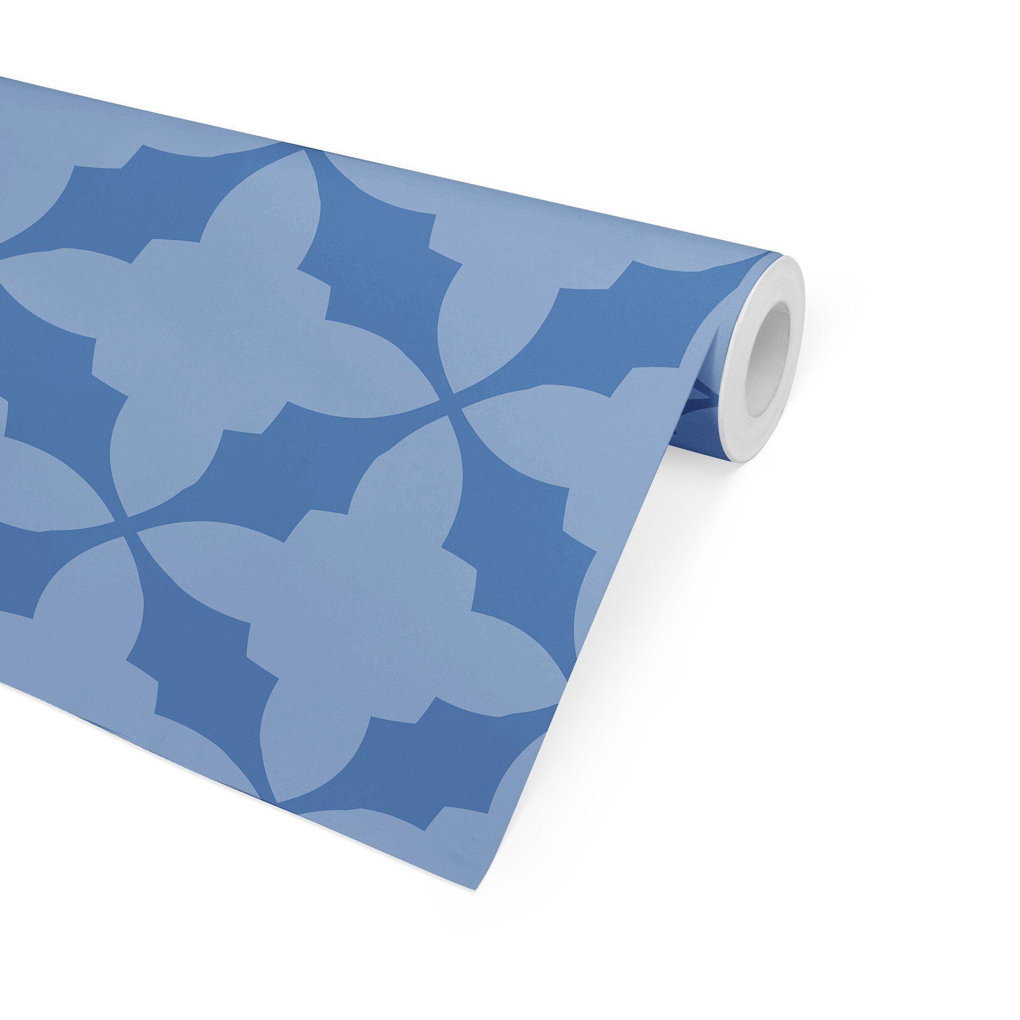 STARR BLUE Peel and Stick Wallpaper By Terri Ellis - 2ft x 16ft