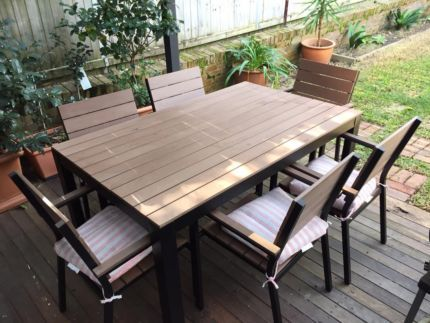 Ikea Falster Table With 6 Matching Chairs Outdoor Dining
