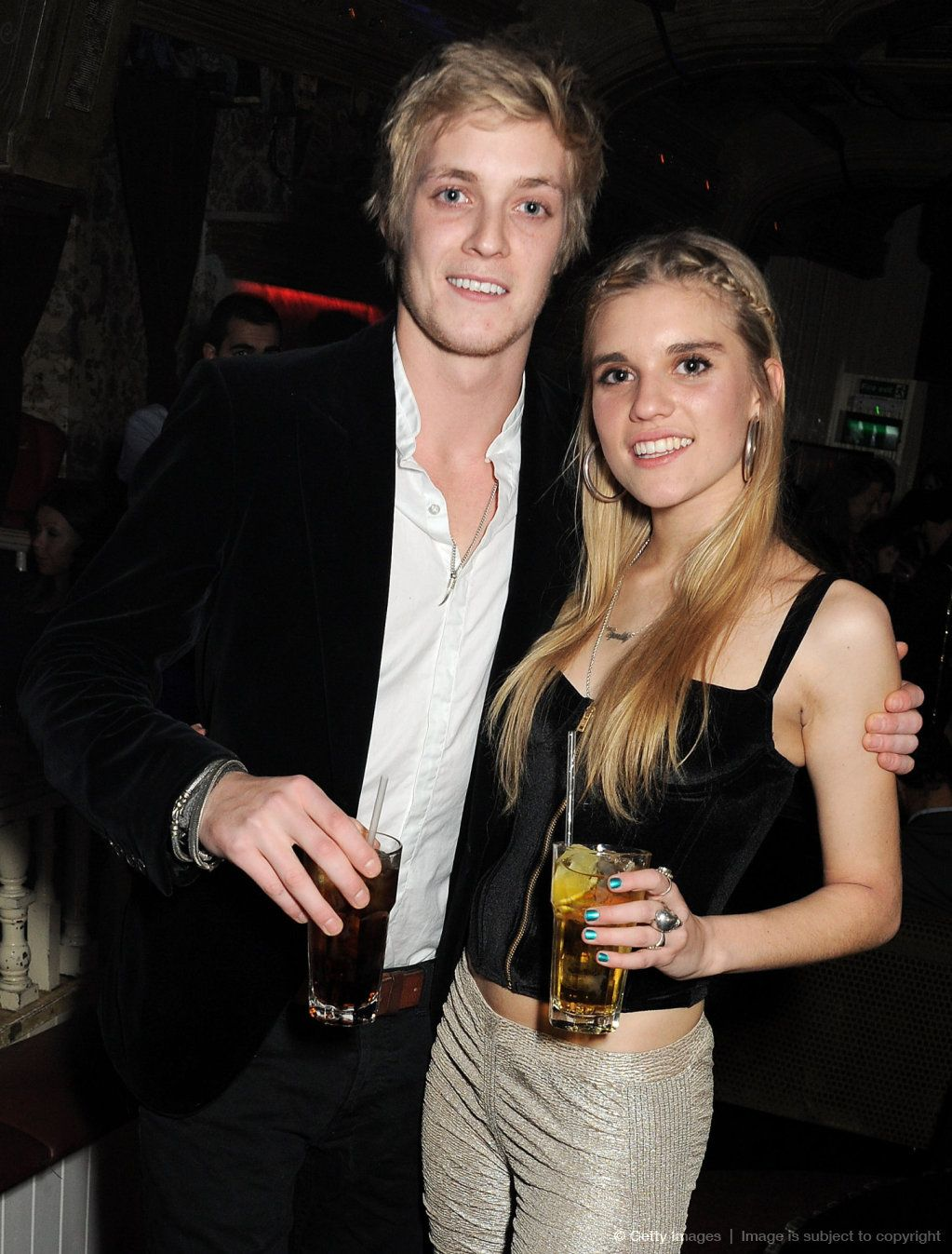 Rufus Taylor and sister Tiger Lily Taylor attend the 2nd Anniversary of The  Box with Belvedere