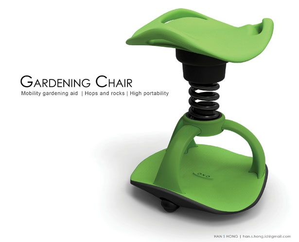 gardening chair for elderly people modern industrial design