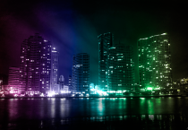 download cool picture of city lights at night