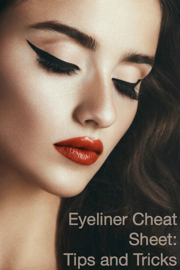 Poise Makeup Professional: Eyeliner Cheat Sheet: Tips And Tricks