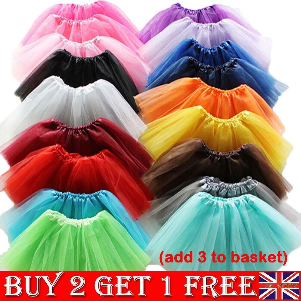 New Kids Tutu Skirt Baby Princess Dressup Party Girls Costume Ballet Dance Wear
