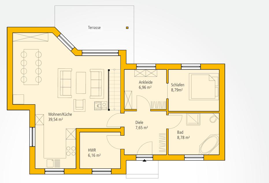 ytong winkelbungalow mit satteldach ein haus in l form bauprojekt 60 pinterest haus. Black Bedroom Furniture Sets. Home Design Ideas