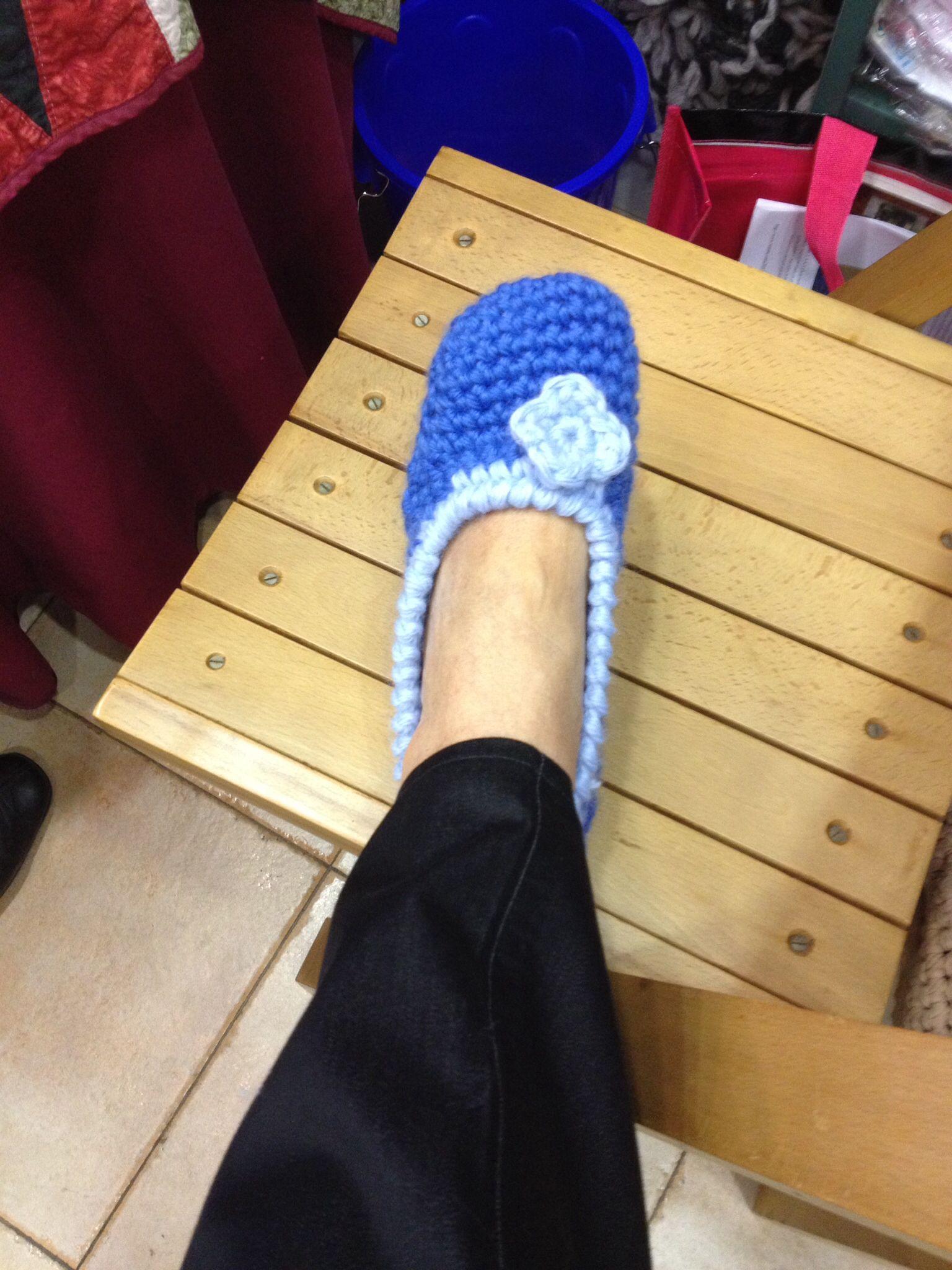 Zapatillas de lana.