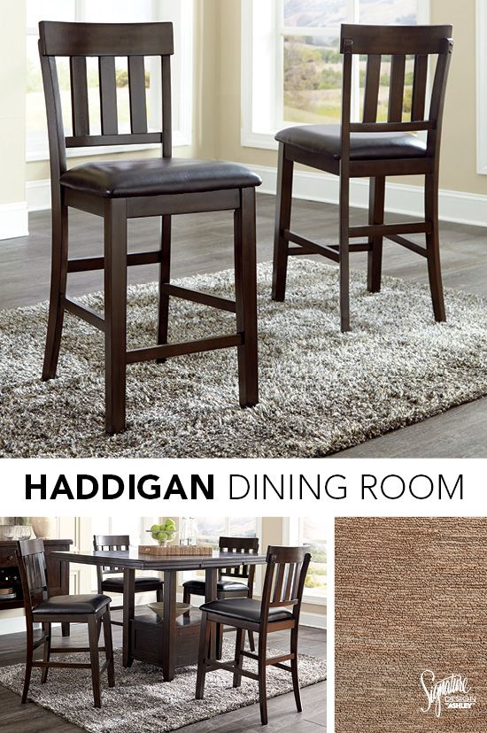Ashleyfurniture Diningrooms Dine At Home In Ultimate Style With The Haddigan Dining Room Set Whet Ashley Furniture Furniture Ashley Furniture Industries