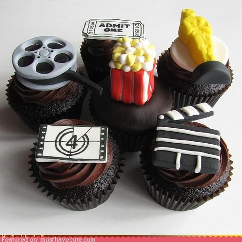 Cupcakes de película // movie cupcakes