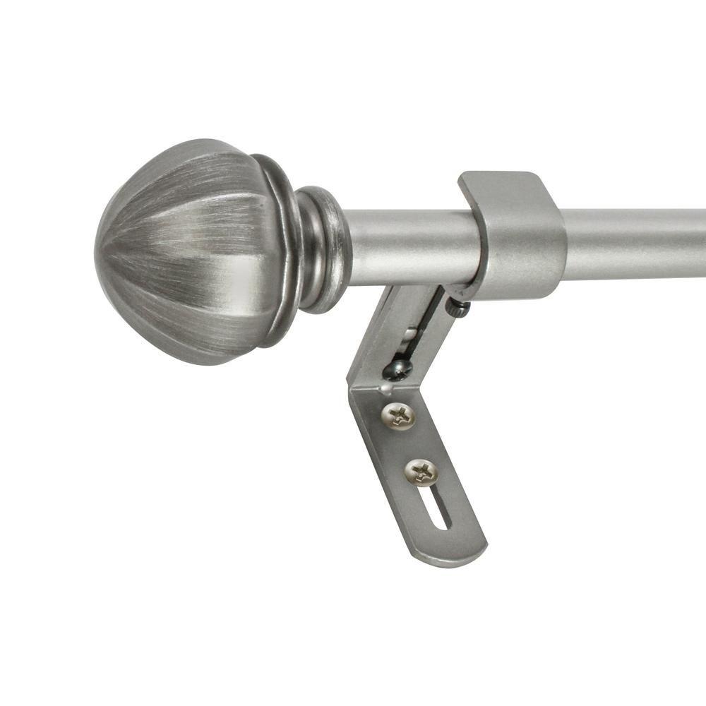 Montevilla 5 8 In Facets Telescoping Drapery Single Rod Set 86 In