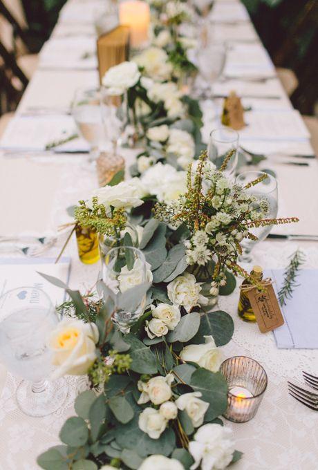Wedding Flowers Bouquets Flower Runner Wedding Table Runners