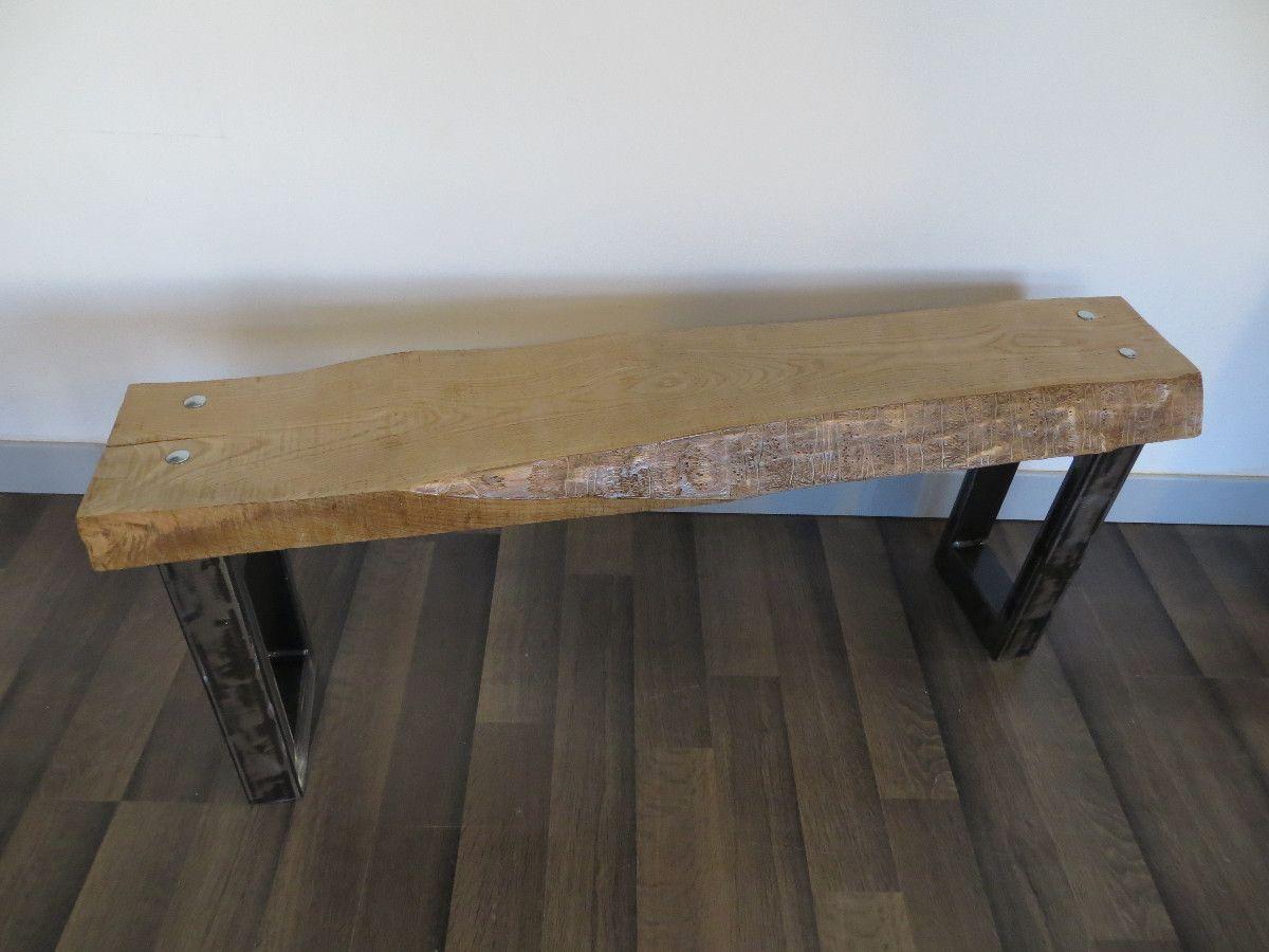 Banc Bois Brut Droit Artacier Consoles Bench Furniture Et