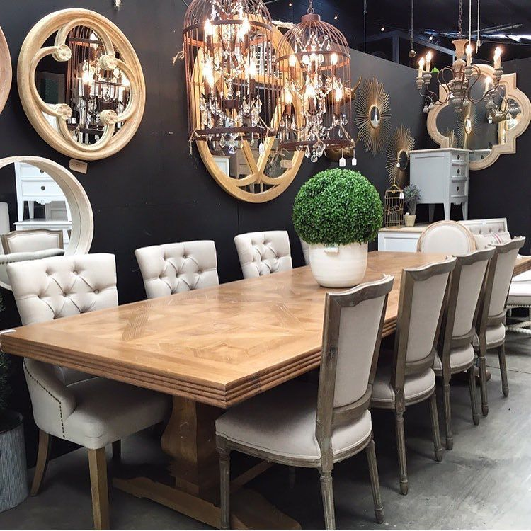 Banquet Size If You Re A Keen Host Or Have A Big Family Then The Artisan Parquetry Top Banquet French Dining Tables 12 Seat Dining Table Hamptons Dining Table