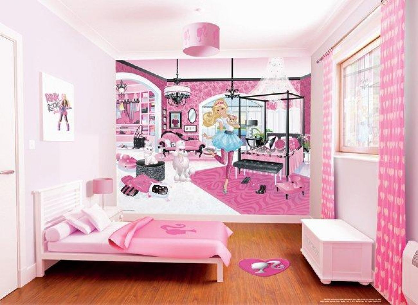 awesome barbie bedroom wallpaper wall mural free special board