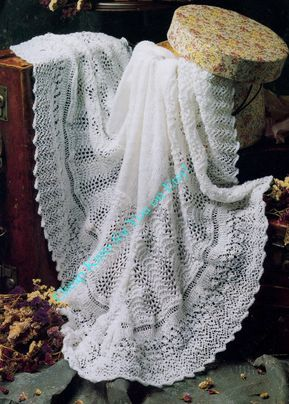 Baby Christening Shawl Shawl Blanket 48 x 48 inches in ...