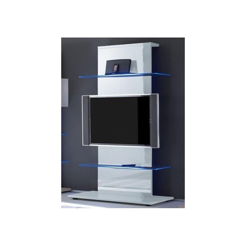 Impressionnant Meuble Tv Blanc Haut Décoration Française - Meubles tv design haut de gamme pour idees de deco de cuisine