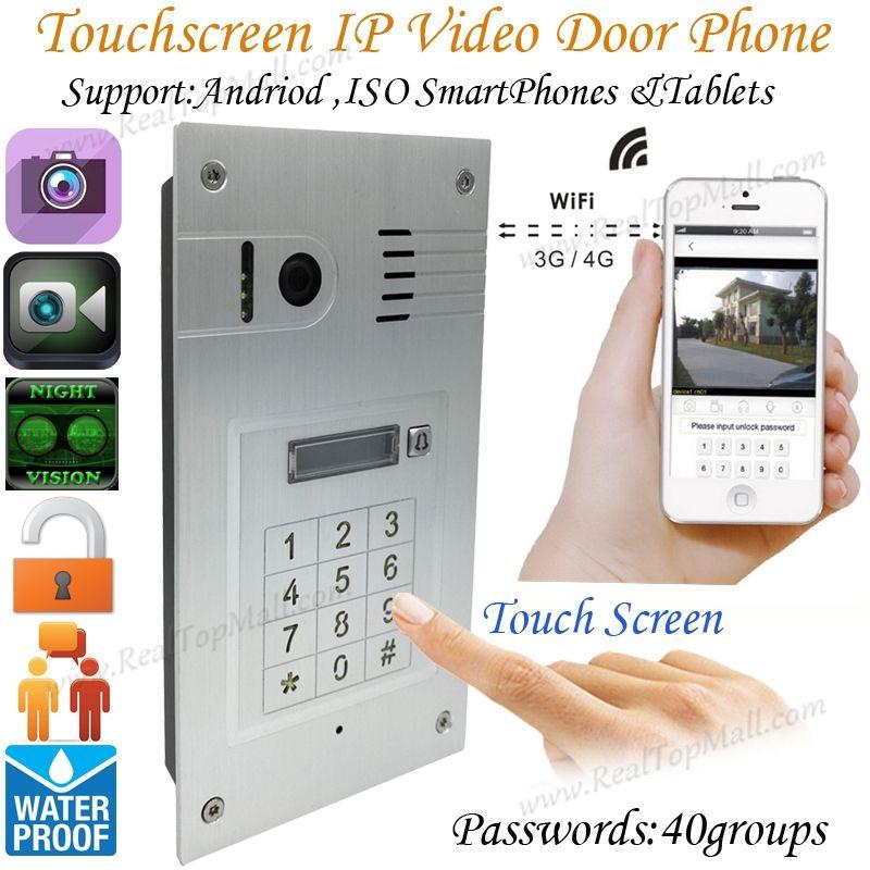3g 4g Embedded Wireless Wifi Touchscreen Video Door Phone Doorbell Ip Camera Intercom Video Door Phone Intercom Ip Camera