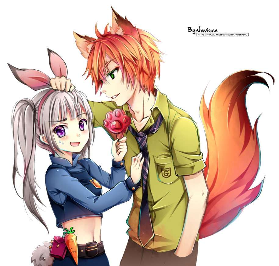 (Zootopia) Nick x Judy [ver. Anime] Render by MikuShooter
