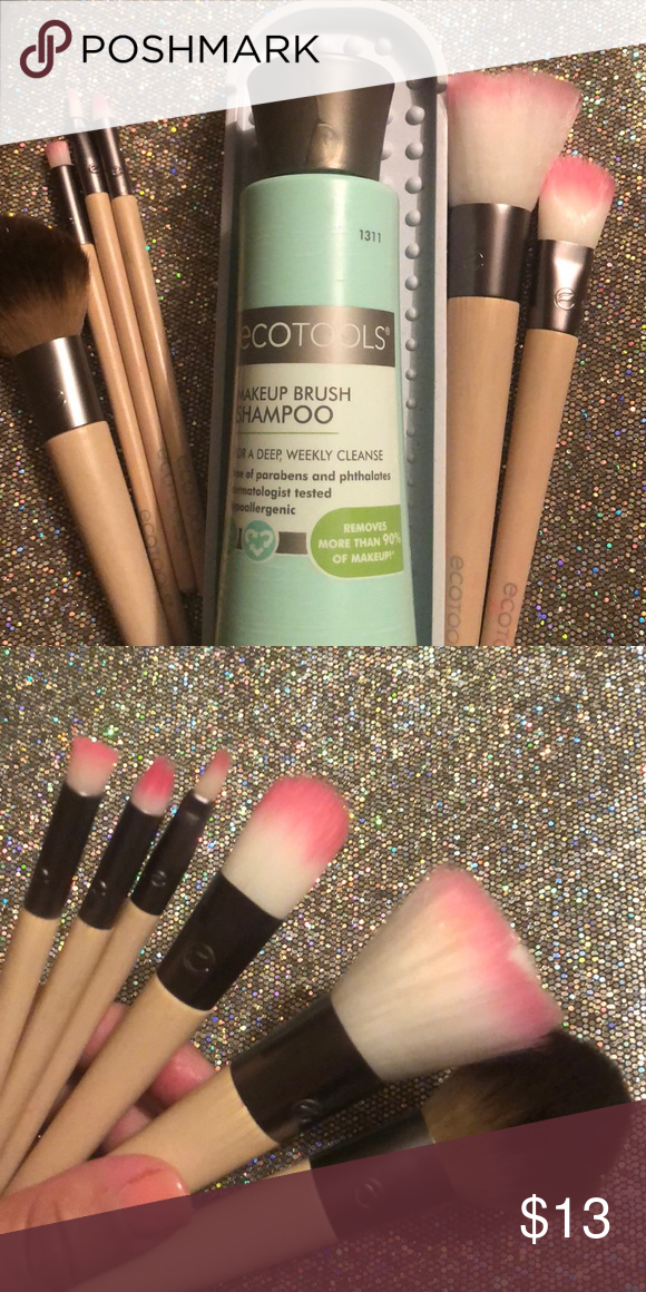 ECOTOOLS BRUSHES & BRUSH WASH 💦💦💦 How to wash makeup