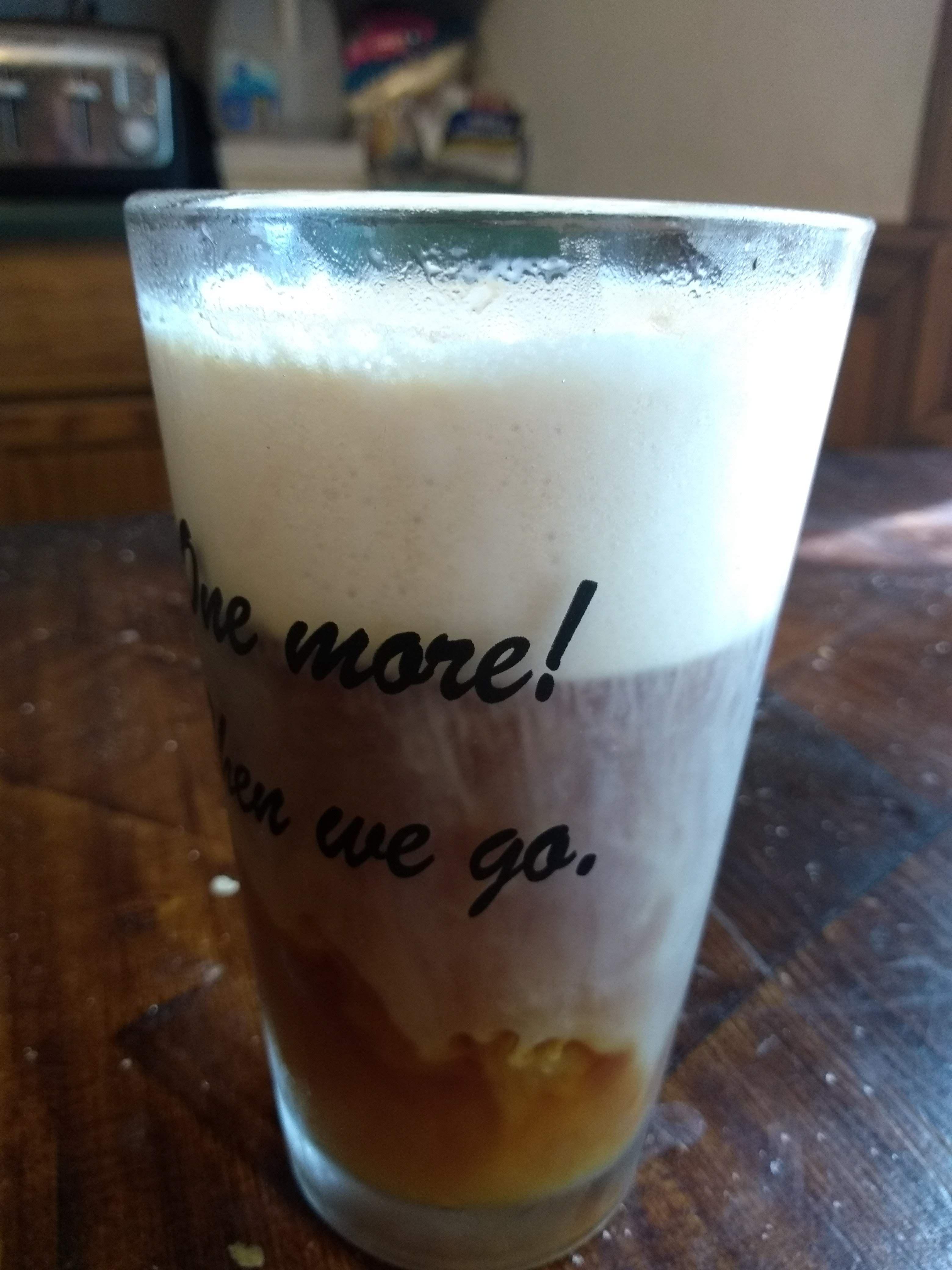 Cold foam copycat with flavor variations coffee flavor