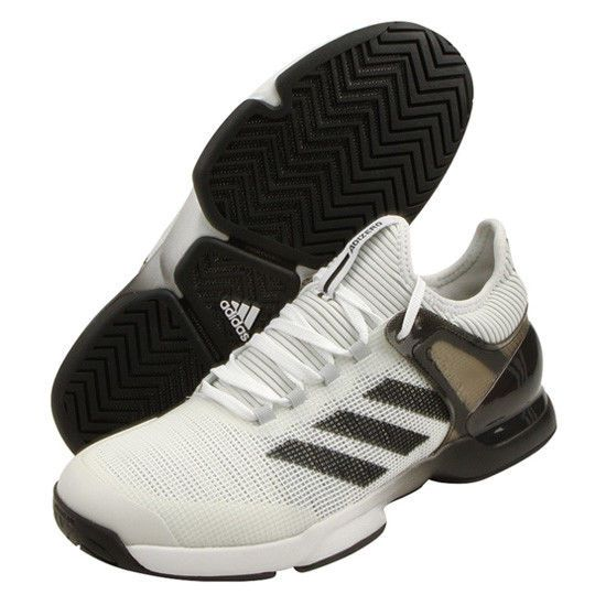 84adf7a20 adidas Adizero Ubersonic 2 Men Tennis Shoes White Black Racket Racquet  CQ1721  adidas