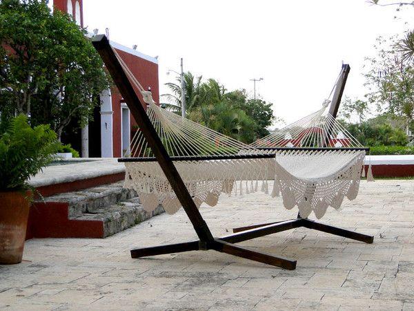 Base de madera para hamaca de palo Hamacas, Espacios abiertos y Madera - hamacas colgantes