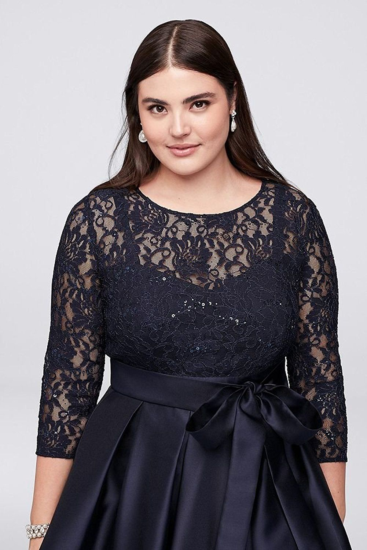 Plus Size Wedding Guest Dress Mikado Plus Size Lace Bodice Plus Size High Low Ball Mot Plus Size Wedding Guest Dresses Maxi Dress Wedding High Low Ball Gown