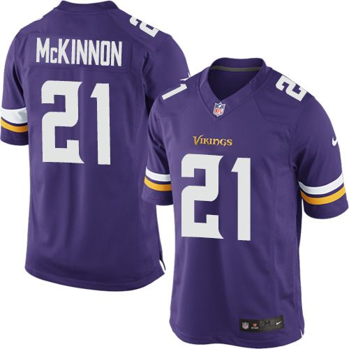77ad4337c Youth Nike Minnesota Vikings  21 Jerick McKinnon Limited Purple Team Color  NFL Jersey Sean Taylor