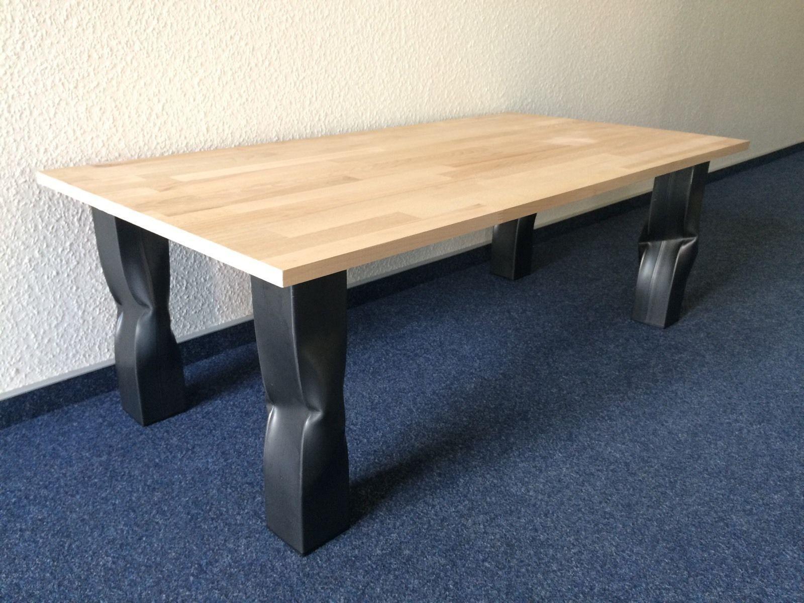 Tischbeine rohr knick bruised design tisch tischgestell for Design tisch edelstahl