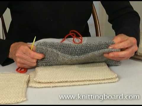 Learn How To Sew Your Knitted Piece Together Using The Whip Stitch