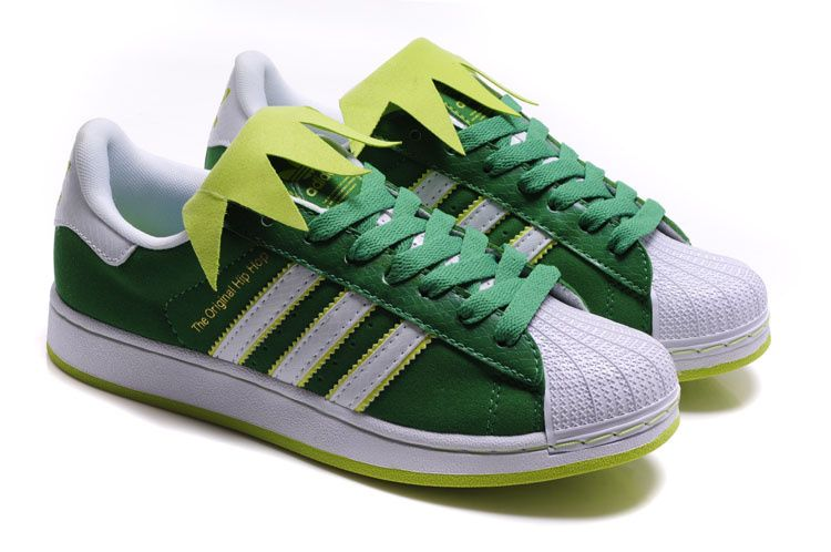 Kermit the Frog x Adidas Superstar II Sneakers   Adidas Grun