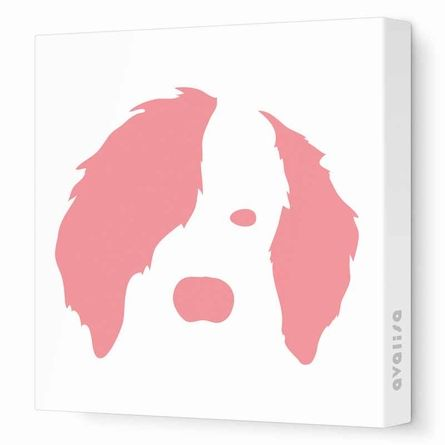 Cute dog wall art! Comes in different colors, too!