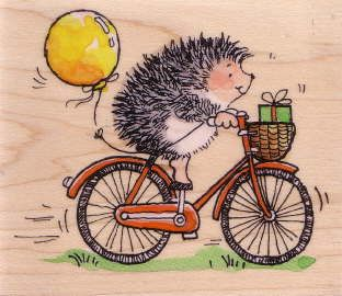 Hedge Delivery Rubber Stamps Penny Black Hedgehogs