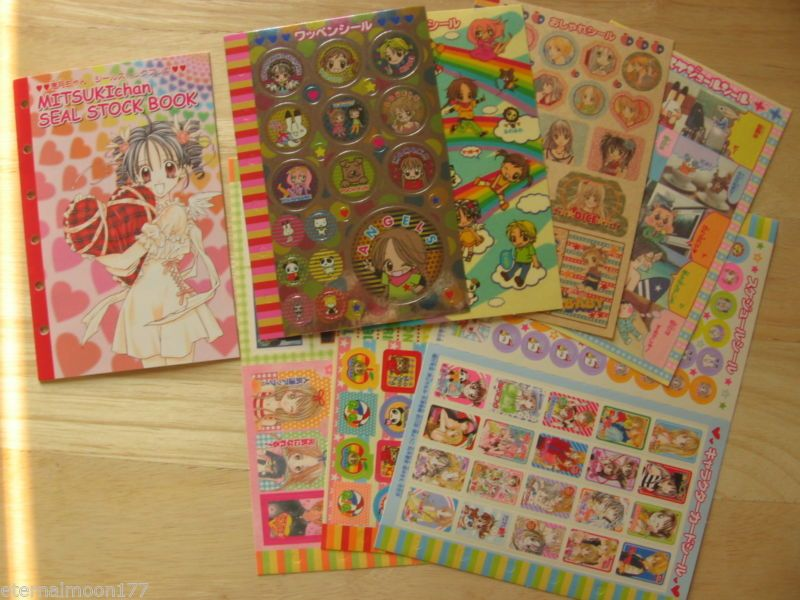 Ribon Manga Full Moon Wo Sagashite Seal Sticker Book Sheets | eBay