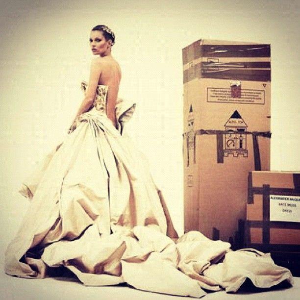 Kate Moss wearing Alexander McQueen.  for Vogue UK, September 2012.