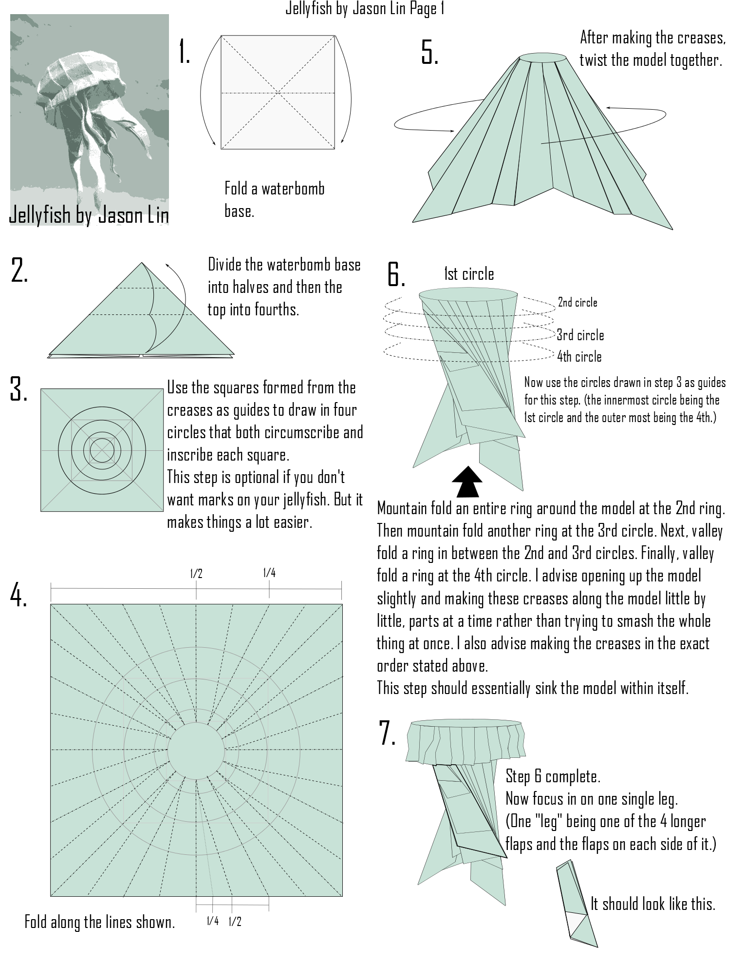Origami Jellyfish Step By Diagrams Art Pinterest Pin Swan Diagram On Jellypage1 15301980