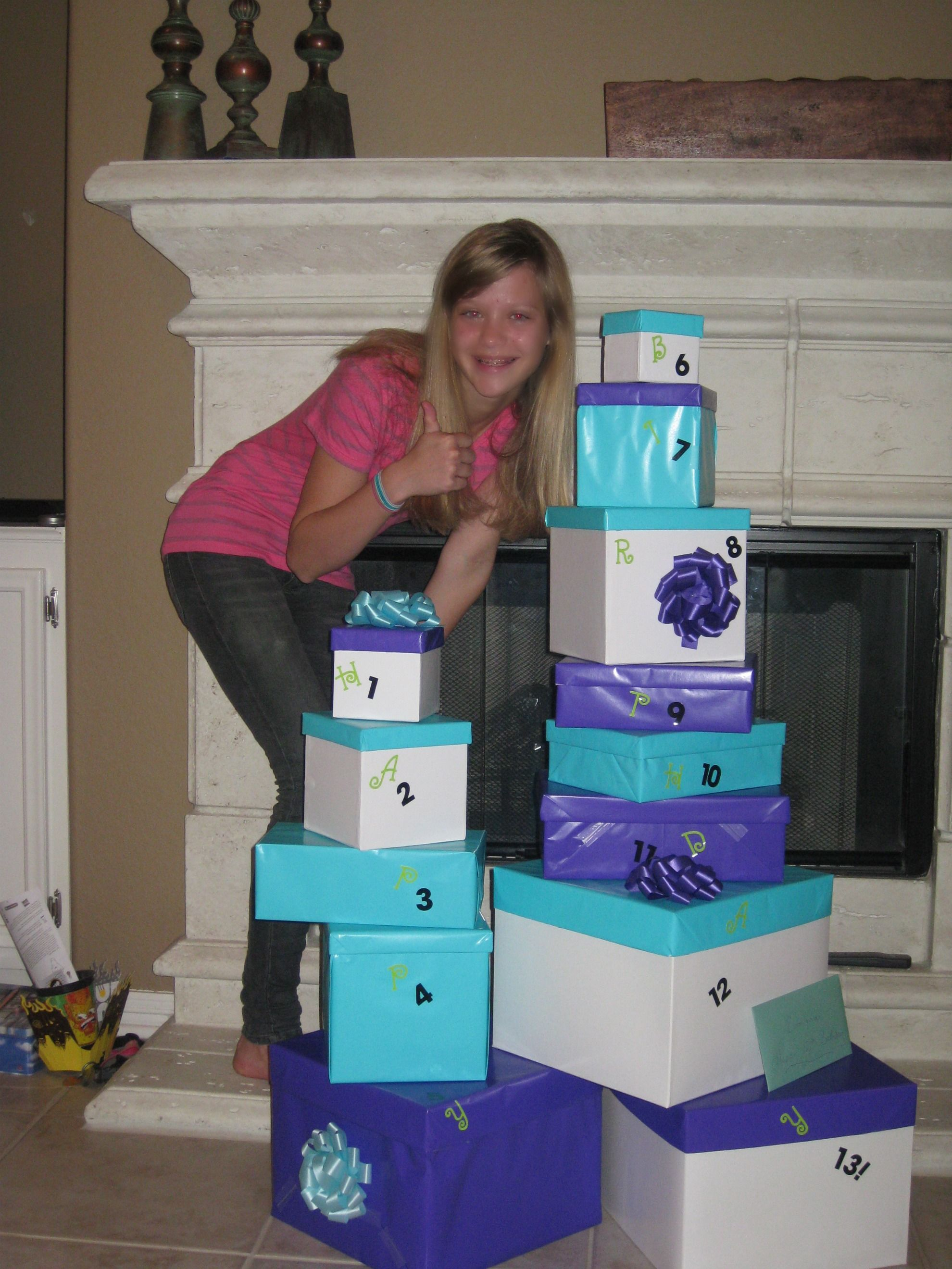 13 Gifts for my girls 13th Birthday Nifty Idea Pinterest