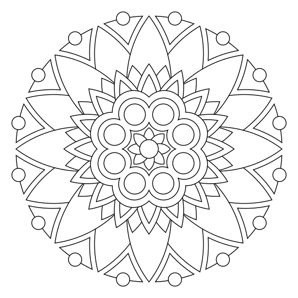Tons of printable mandala designs free for download. Print