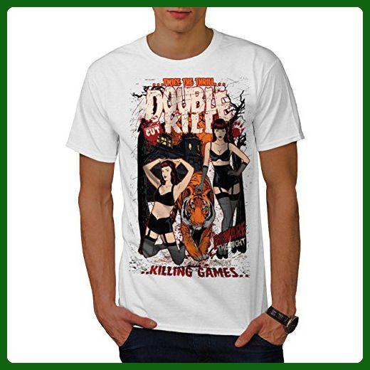 Double Kill Vixen Horror Tiger Men XXXXL T-shirt | Wellcoda - Animal shirts (*Amazon Partner-Link)