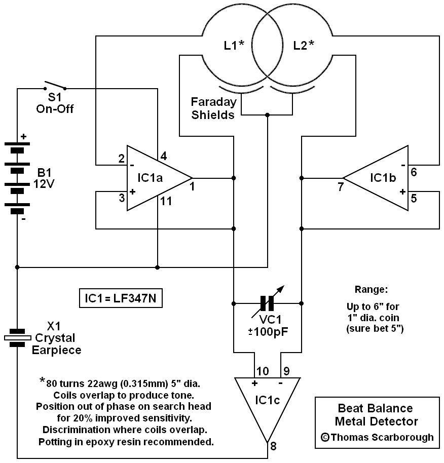 beat balance metal detector electronics in 2019 metal detector beat balance metal detector electronic circuit diagram [ 876 x 914 Pixel ]