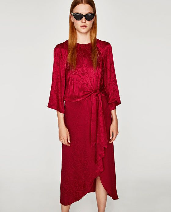 63cf48d5 Image 4 of JACQUARD MIDI DRESS from Zara | things to wear | Jaquard ...