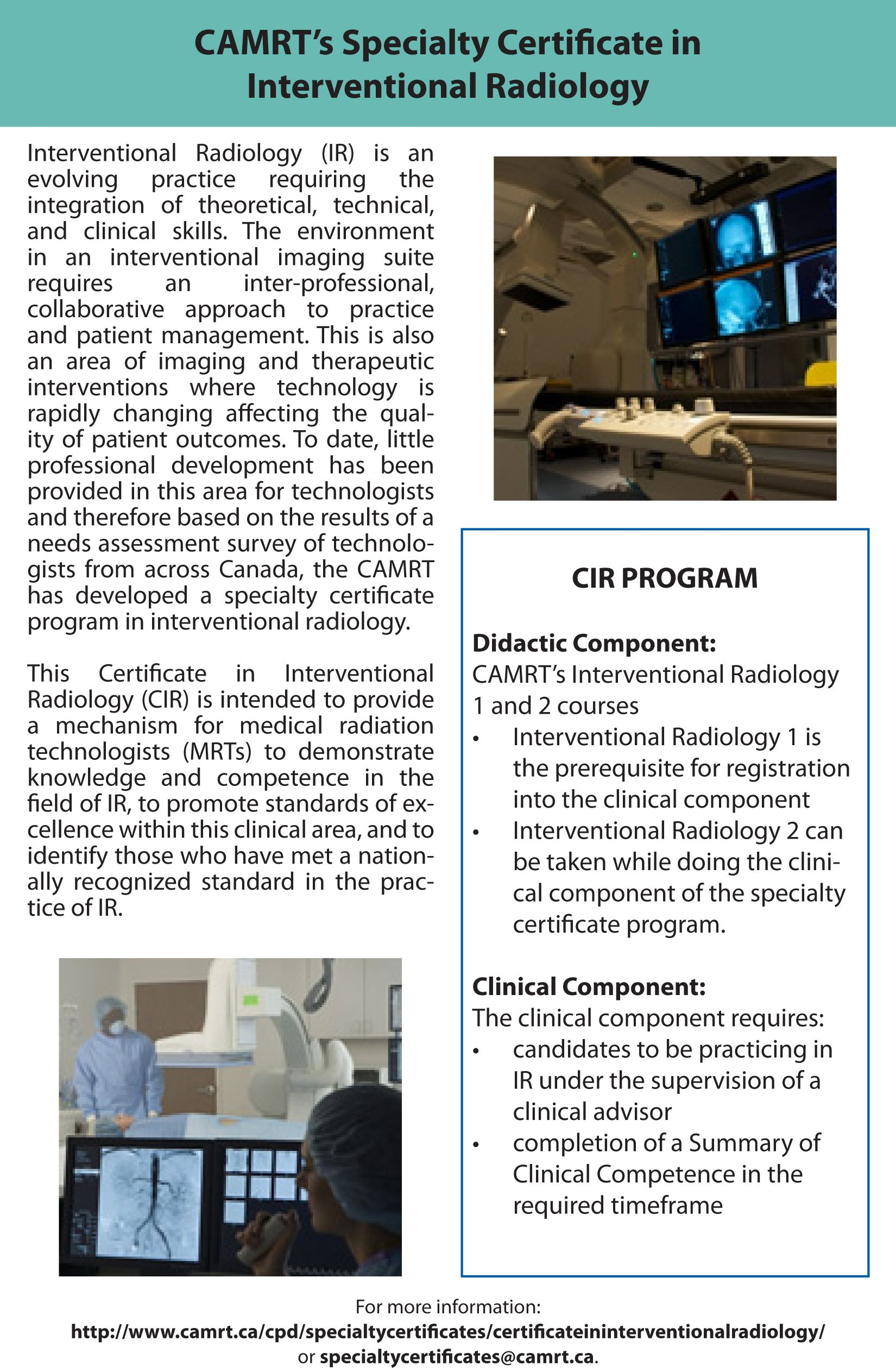 Camrts Specialty Certificate In Interventional Radiology