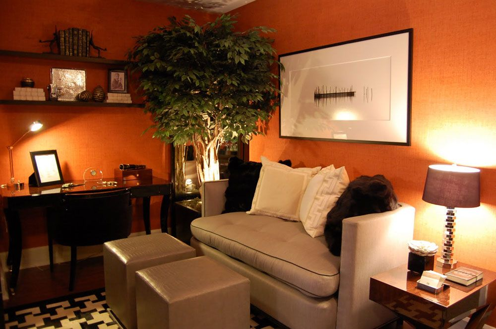 decorating large walls in small living rooms | ... Wall Living Room Colour Also Small Computer Lamp: Warm Paint Colors