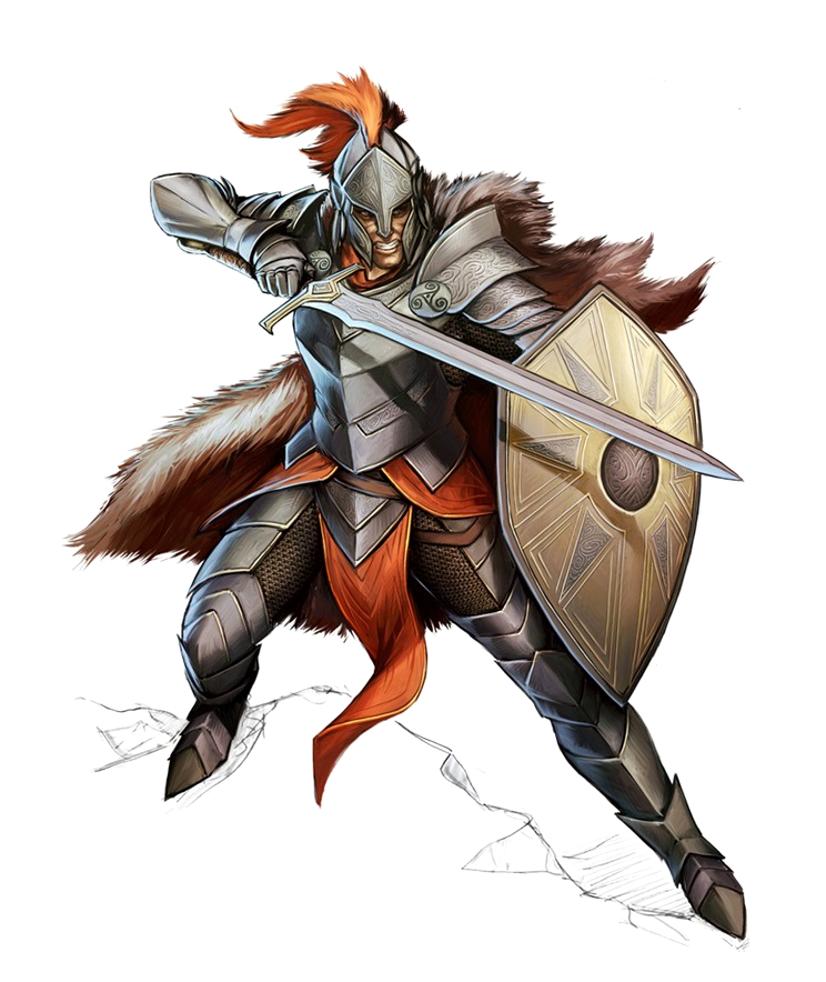 Human Sword and Board Fighter - Pathfinder PFRPG DND D&D ...