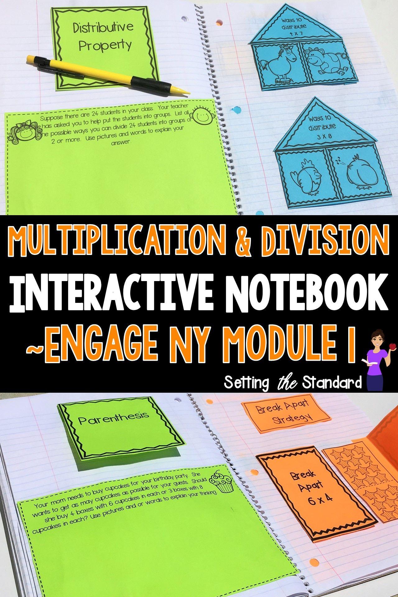 Engage New York Math Interactive Notebook Grade 3 Module 1