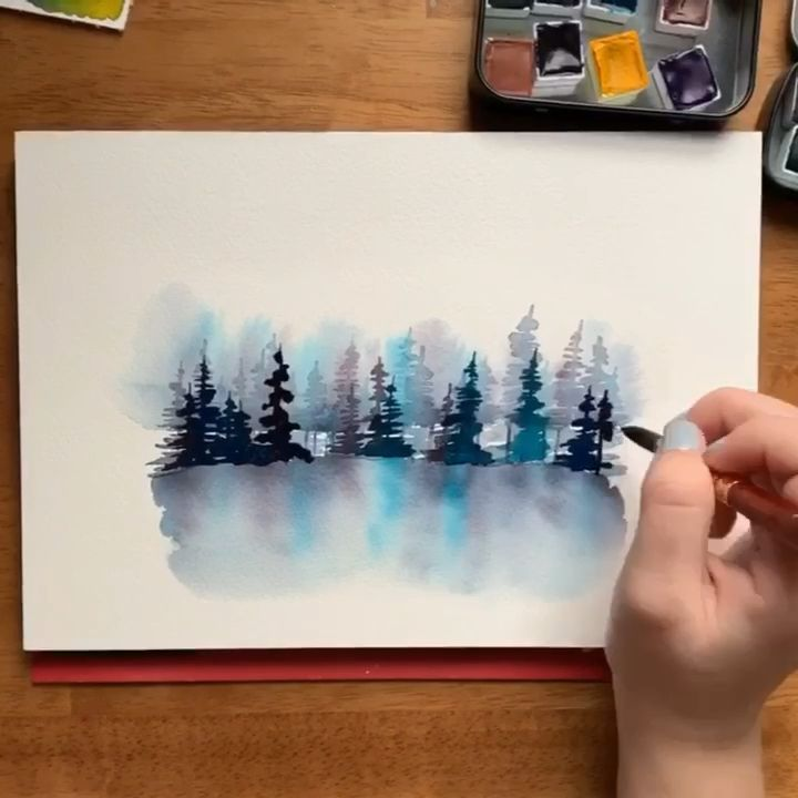 Watercolor Misty Forest | Kolbie Blume | Skillshar